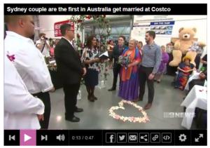 costco wedding sydney channel 9